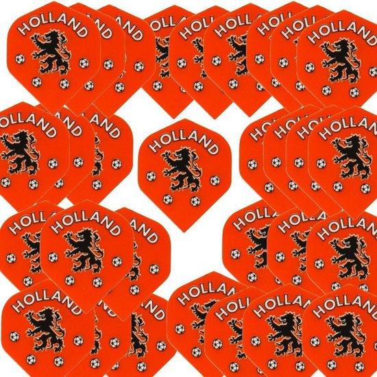 Afbeelding van het spel 10 sets Dartflights Fluoranje Holland voetbal Leeuw