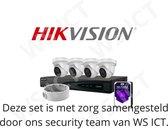 HikVision Gold Label 2.0 Kit - 4 camera's - 4 Poorts NVR - WD Purple 2TB - 4 Montagebeugels