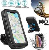 Universele waterdichte telefoon fietstas beschermhoes etui waterdichte motorfiets fietsstuur mobiele telefoon GPS houder Fiets tas - zwart