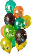 Set van 12 balonnen dino's