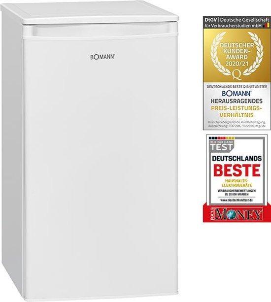 Koelkast: Bomann KS 7230.1 koelkast met vriesvak / koeling 83 L / vriesvak 8 L / 107 kWh / wit, van het merk Bomann