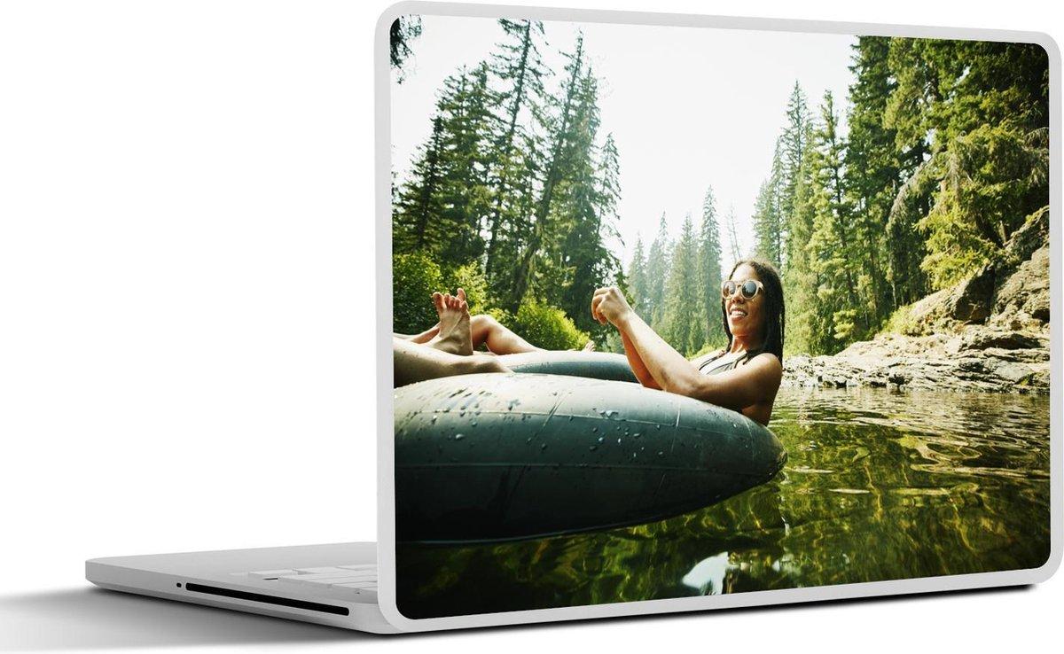 Laptop sticker - 10.1 inch - Zwemband - Water - Zomer