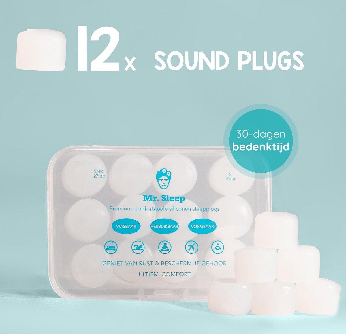 Mr Sleep® - 12x Sound plugs - Oordoppen - Earplugs - Geluidsoverlast - Slapen - Zwem Oordopjes - Sla