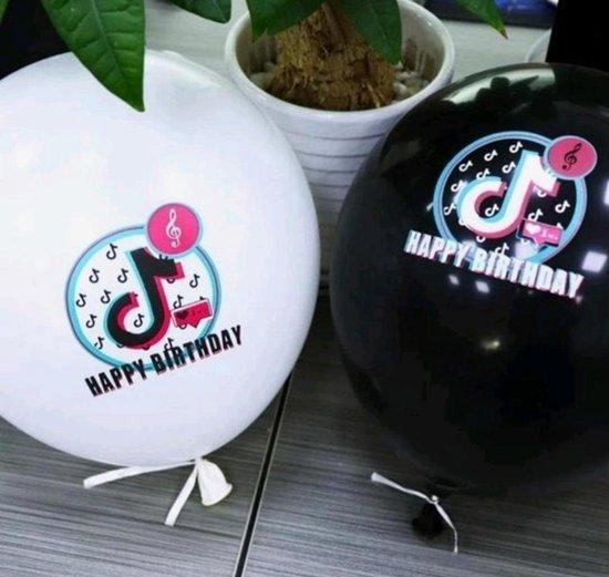 TikTok Ballon 10 Stuks Wit Tik Tok Ballonnen Verjaardag Feestje