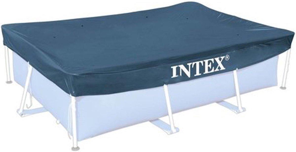Intex Afdekzeil Framepool Rechthoek - Afdekzeilen - 2 x 300x200 cm Grijs