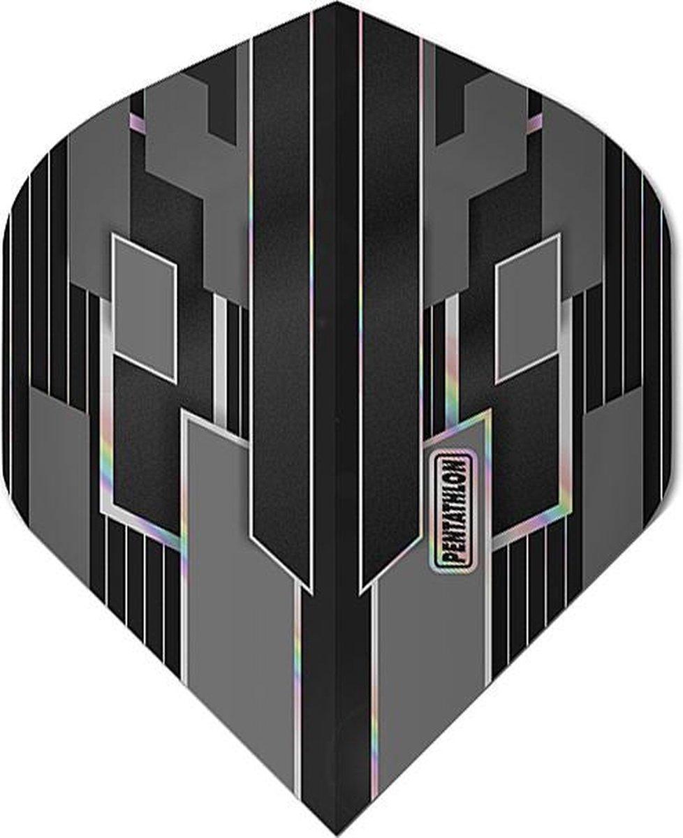 ABC Darts - Pentathlon Dart Flights Shimmers - Zwart - 5 sets
