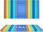fidget toys - pop it - dobbelsteen pop it - xxxl pop it met dobbelsteen - dobbelsteen spel - nieuwe formaat - tiktok trend pop it - DOBBELSTEEN GAME - RAINBOW COLOR