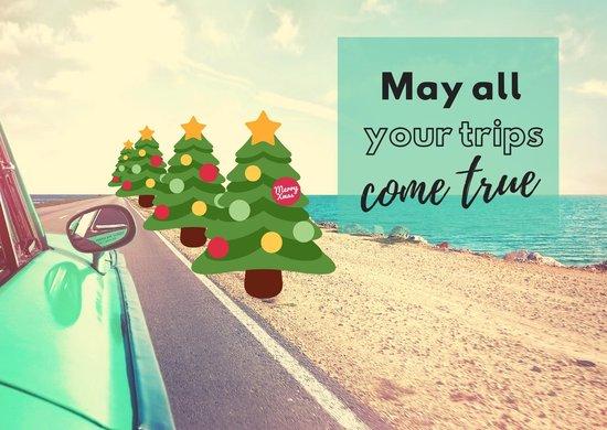 reis kerstkaarten: kerstwensen voor echte reizigers