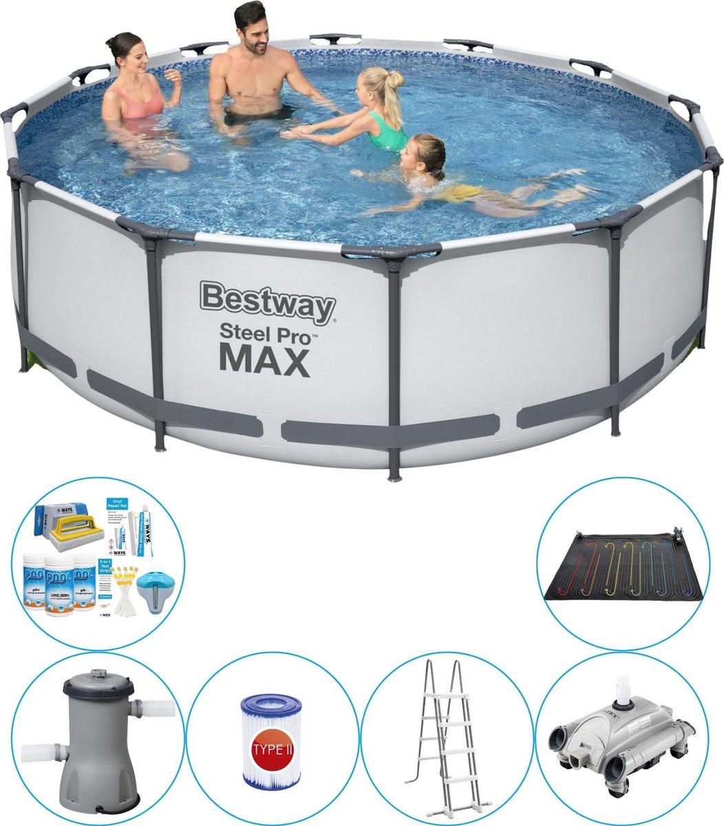 Bestway Steel Pro MAX Rond 366x100 cm - 7-delig - Zwembad Inclusief Accessoires