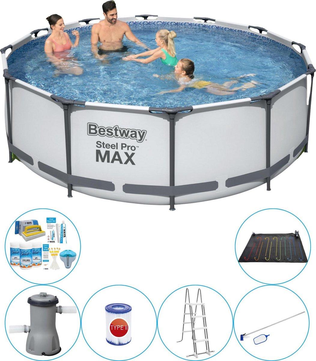 Bestway Steel Pro MAX Rond 366x100 cm - 7-delig - Slimme Zwembad Deal