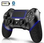 PREMIUM - PS4-controller -- Wireless Dual-Shock V2 Controller -- Zwart/Rood -- PlayStation 4