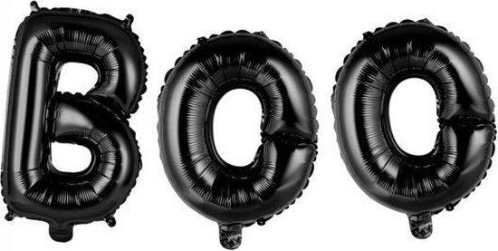 Ballonnen Letter Set Boo Zwart 41cm