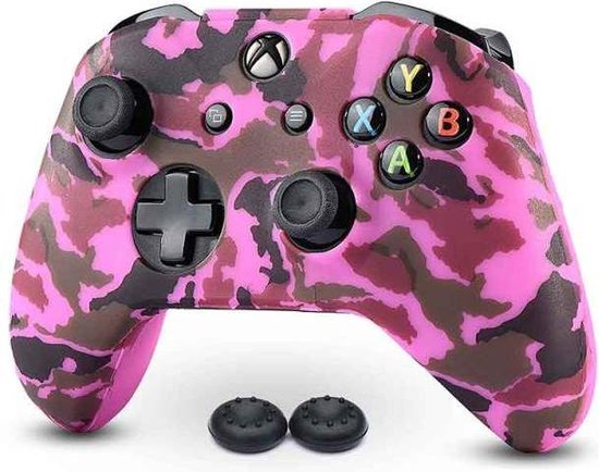 Gadgetpoint | Xbox One | Siliconen Controller Hoesjes | Camo | Roze
