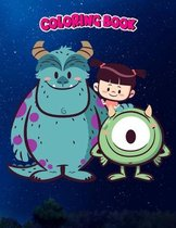 Coloring Book: Monster Mates, Children Coloring Book, 100 Pages to Color
