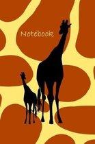 Notebook: Giraffe Notebook for Kids