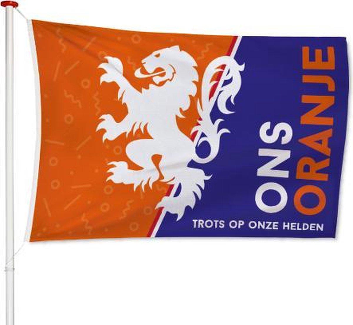 EK Vlag Ons Oranje 100x150cm