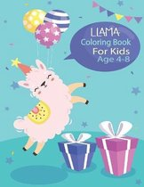 Llama Coloring Book For Kids Age 4-8