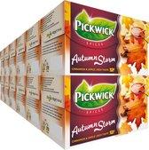 Pickwick Spices Autumn Storm -  Zwarte Thee -  Appel en Kaneel - Herfststorm - 240 Theezakjes - Rainforest Alliance Gecertificeerd - 12 x 20 Zakjes
