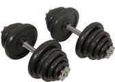 Bol.com-Active Panther Dumbbells 25 kg - Verstelbare Dumbbell set 2 stuks - Halterset Gewichten - Professionele gewichten-aanbieding