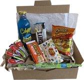 Snoep en Snack pakket | Amerikaanse geschenkpakket/snoepbox - Een perfect verwen pakket voor jezelf of om cadeau te doen.