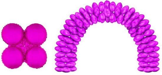 Folieballonnen ballonboog Fuchsia (10 stuks)