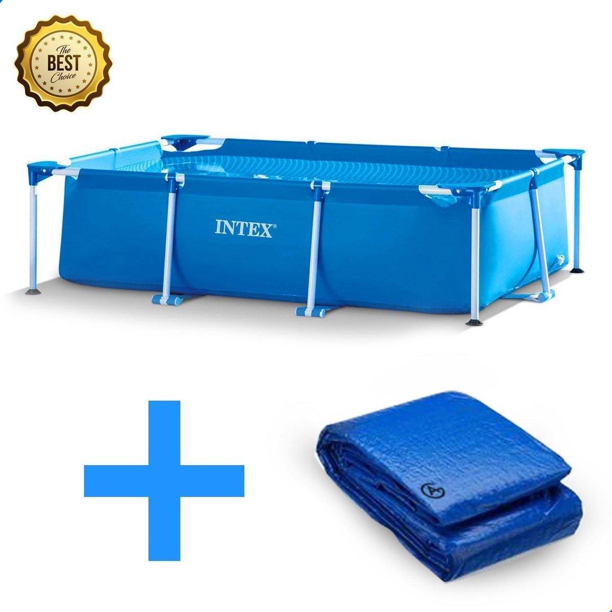 Intex Family Frame Zwembad 300x200x75cm + gratis AG Afdekhoes - afdekzeil- accessoires Opzetzwembade