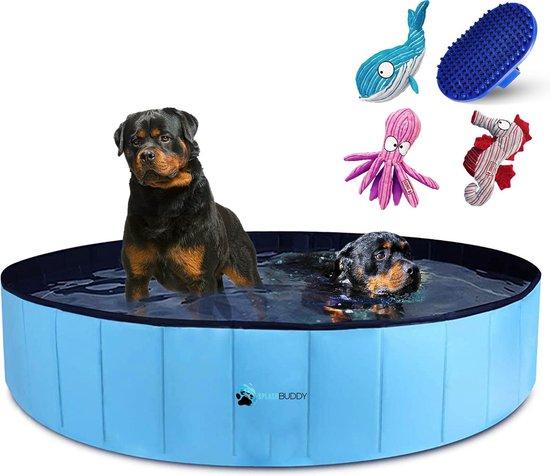 Splashbuddy hondenzwembad 160 X 30 CM - GRATIS XL KONG honden knuffel - Honden speelgoed - Hondenbad - Dog pool - Kinderzwembad - Zwembaden
