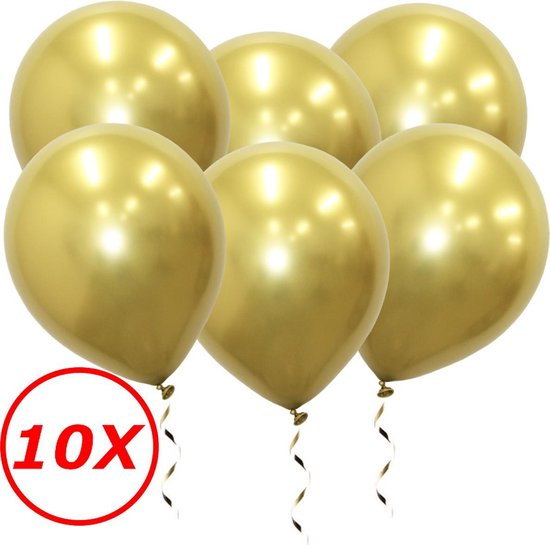 Gouden Ballonnen Luxe Feestversiering Verjaardag Decoratie Chrome Goud Helium Ballon Gold Party 10 Stuks