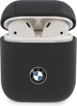 BMW Signature Leather Case voor Apple Airpods 1 & 2 - Donkerblauw