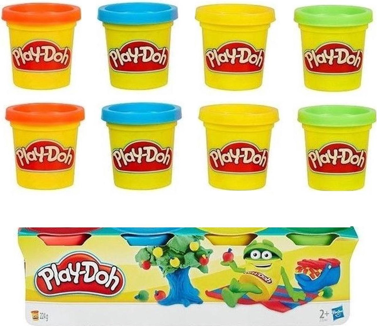 Hasbro - Play-Doh Klei Mini 8-pack - Set van 2 stuks - 4 kleuren