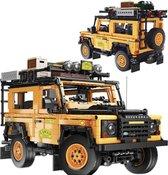 Radiografische Land Rover - Off Road Auto - Safari SUV - Jeep -  Technic Bouwpakket - Afstand bestuurbaar Toy Brick Lighting