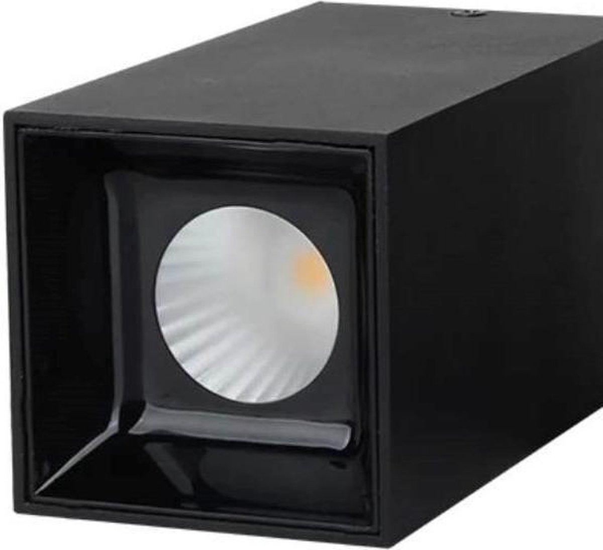 ABC | Opbouwspot enkel - Vierkant - Zwart - 15W - LED