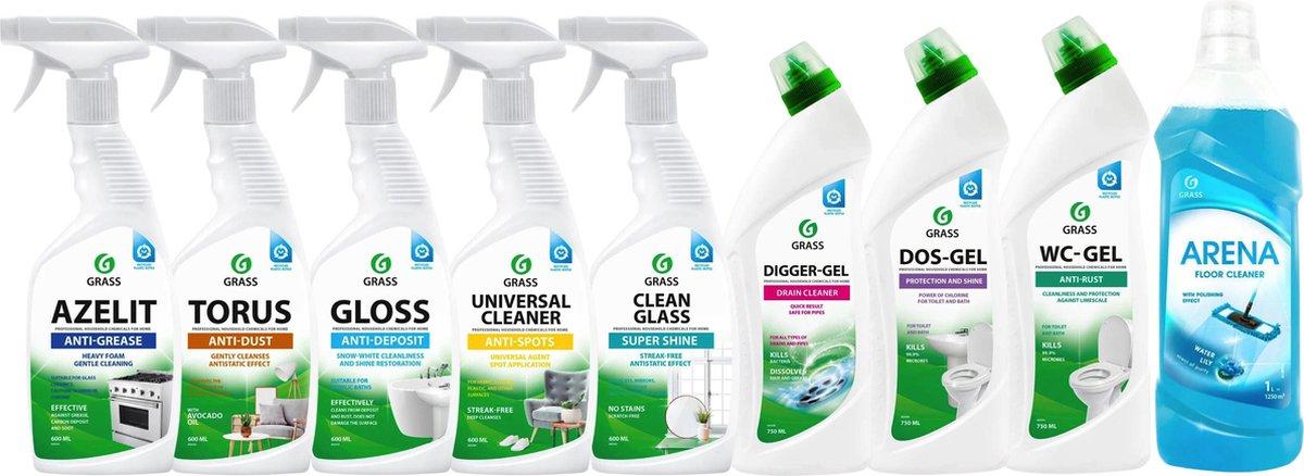 Grass - Schoonmaken - Alles-In-Een - Schoonmaakpakket - Starter Set - Voordeelpakket
