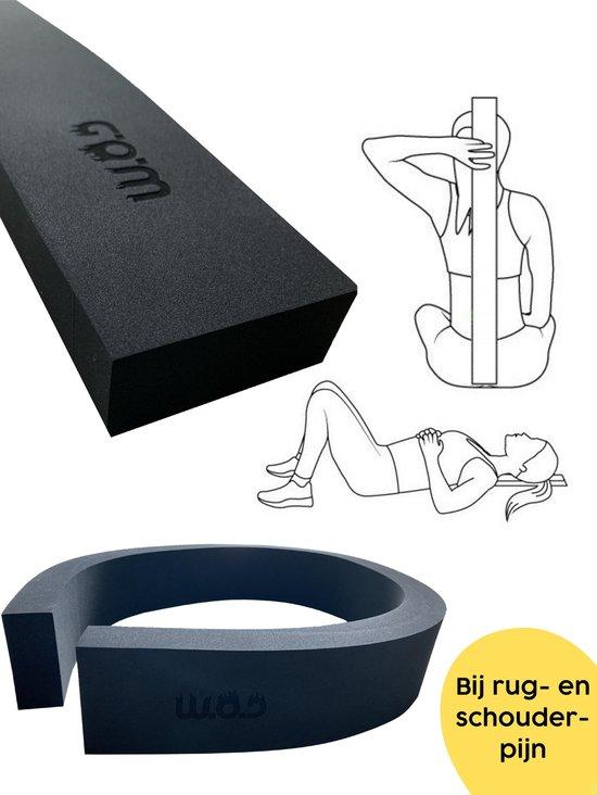 W.O.D Yoga Strip - Yoga Stripje - Yogastrip - Critical Alignment Strip - Houding Correctie - Houding Corrector - Schouder Stretcher - Rug Stretcher - Backstretcher - Verhelpt Rugpijn - Zwart