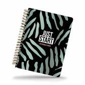 Just start - my personal planner - studio stationery - Zwart | Multi