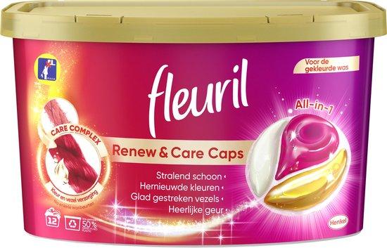 Fleuril Color Caps - Wasmiddel Capsules - Voordeelverpakking - 8 x 12 wasbeurten