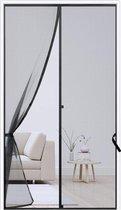 FEDEC Magnetisch Vliegengordijn - Hordeur - Deurgordijn - 99x210 cm - Zwart