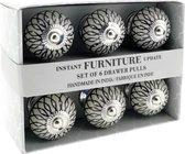 India Hoogwaardig Ceramische Kastknop   Deurknop - Handgemaakt In India - 6 Stuks