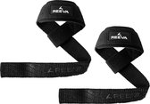Reeva lifting straps - lifting straps met padding - verkocht per paar - zwart - unisex