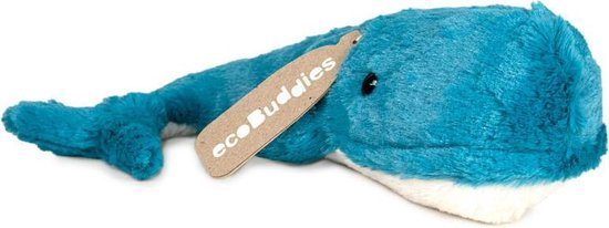 Eco Buddies knuffel -  Walvis knuffel - Recicled plush toy - 30cm