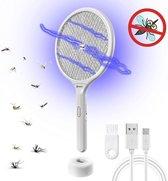 Mugzapper 2-in-1 Elektrische Vliegenmepper - Muggenlamp - USB Oplaadbaar Batterij - Inclusief Schoonmaak kwastje