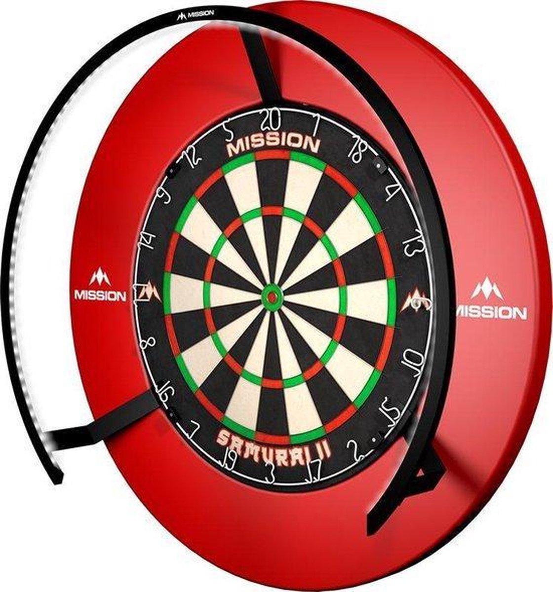 ABC Darts Dartbord Razorblade, Ledverlichting en Rubberen Surround Ring