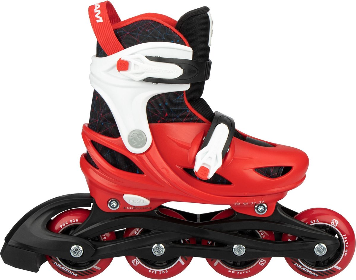 Nijdam Inline Skates Verstelbaar - Red Racer - 33-36