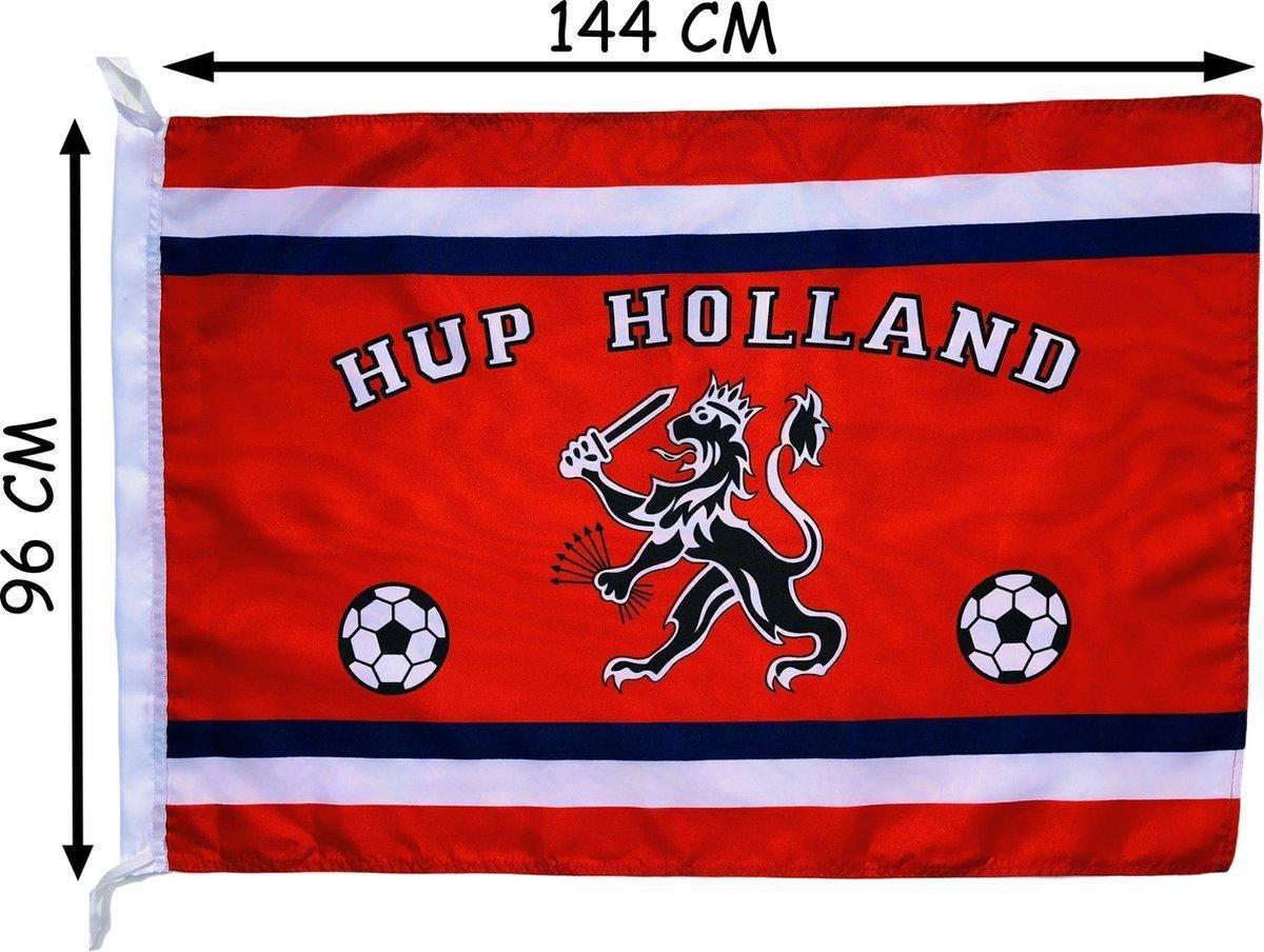 Holland Oranje vlag met Leeuw - Koningsdag vlag - Koningsdag accessoires - 150 x 100 cm   - EK acces