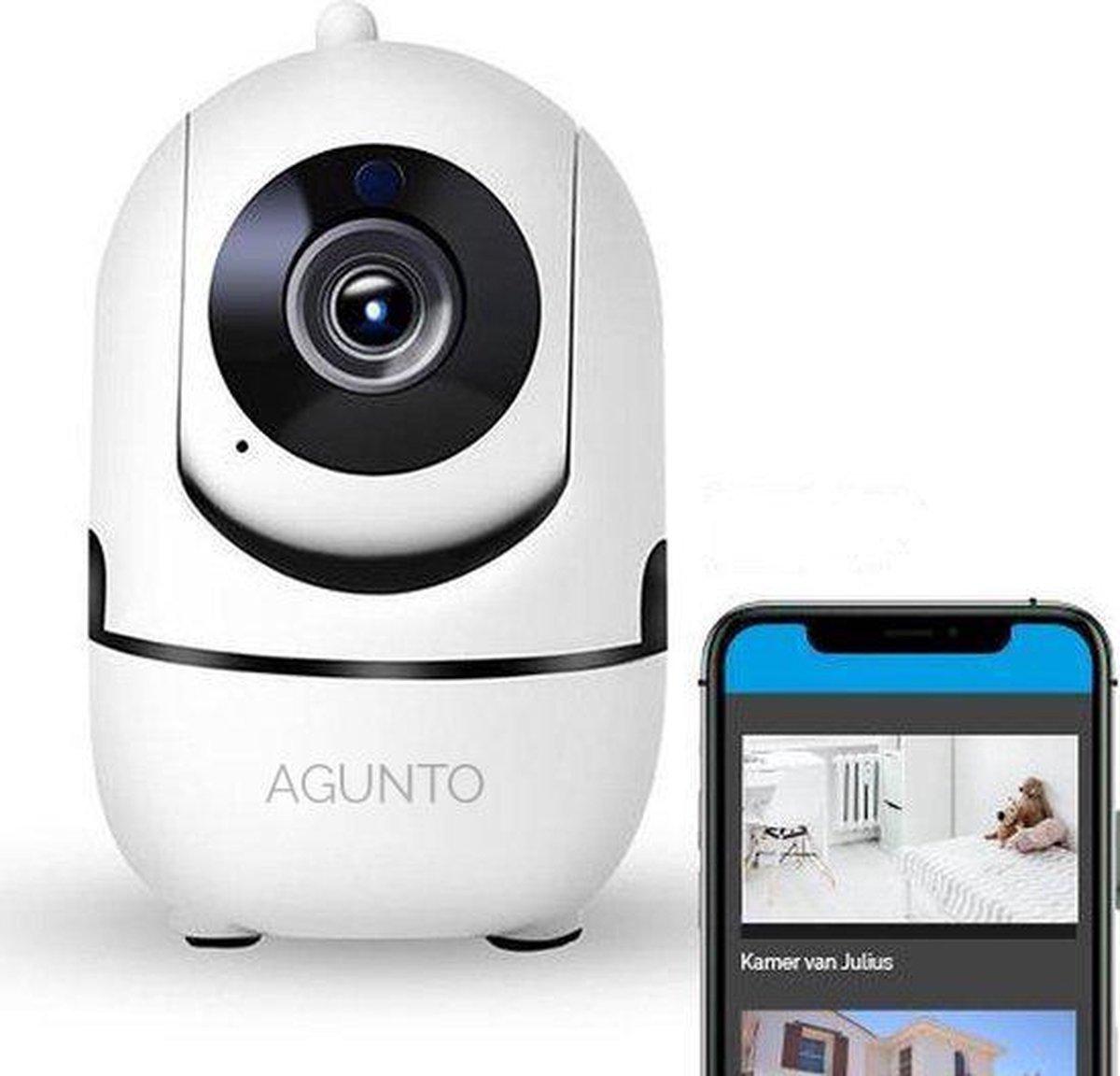 Agunto Babyfoon - Beveiligingscamera - Babyfoon met camera - WiFi - Beveiligd - HD Quality + Telefoo
