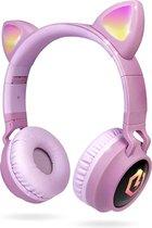PowerLocus Buddy Draadloze On-Ear Koptelefoon voor Kinderen - Roze