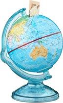 relaxdays - spaardoos wereldbol - spaarvarken - spaargeld globe - wereldkaart