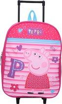 PEPPA PIG Trolley Koffer Logeren Vakantie Roze Bloemetjes