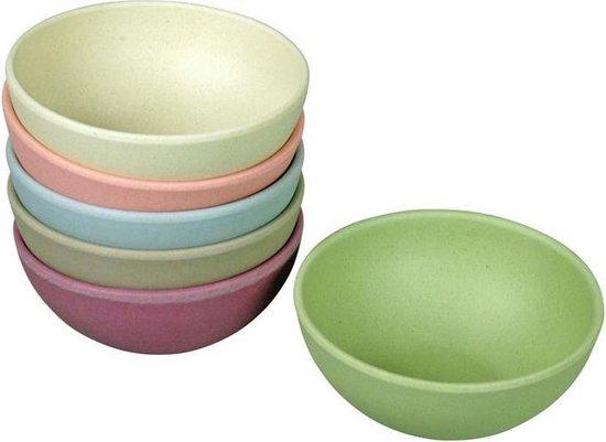 Zuperzozial schaaltjes - set 6 stuks - pastel kleuren - 10cm - Bamboe