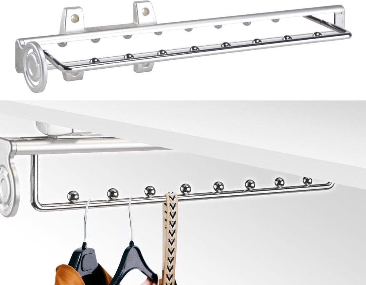 Haushalt 29202 - Garderobe stang - inbouw - uittrekbaar - 46 x 9 x 9.7 cm - Haushalt